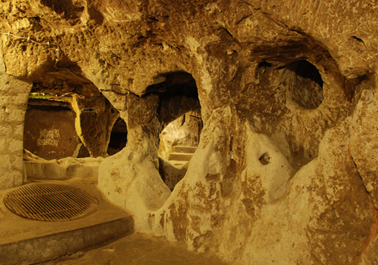 Ancient Derinkuyu Underground City in Cappadocia